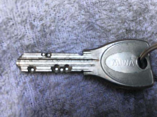 MIWAの合鍵は当店で注文できます。